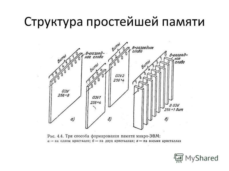 Структура простейшей памяти