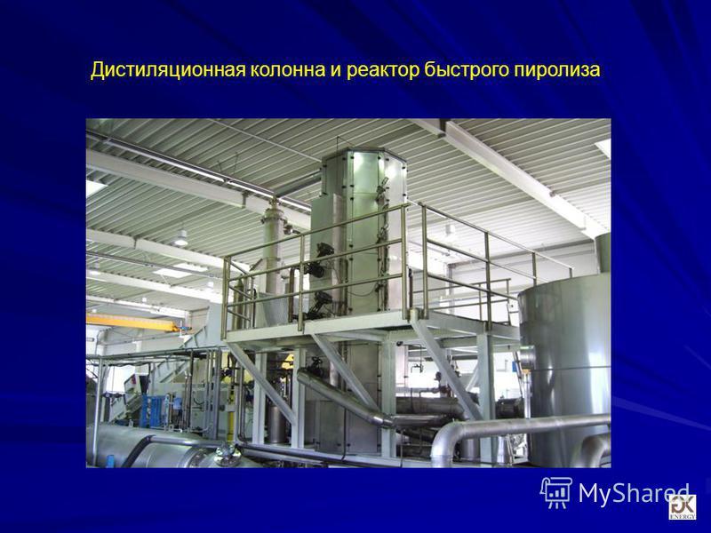 Дистиляционная колонна и реактор быстрого пиролиза