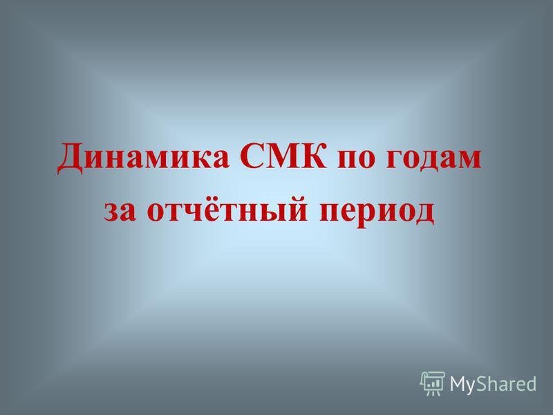 Динамика СМК по годам за отчётный период