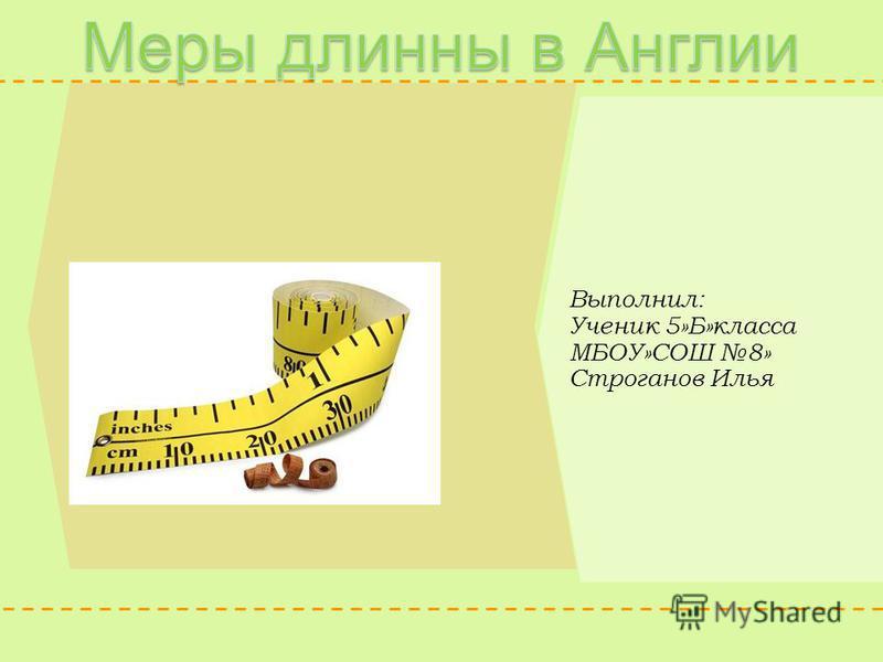 Выполнил: Ученик 5»Б»класса МБОУ»СОШ 8» Строганов Илья