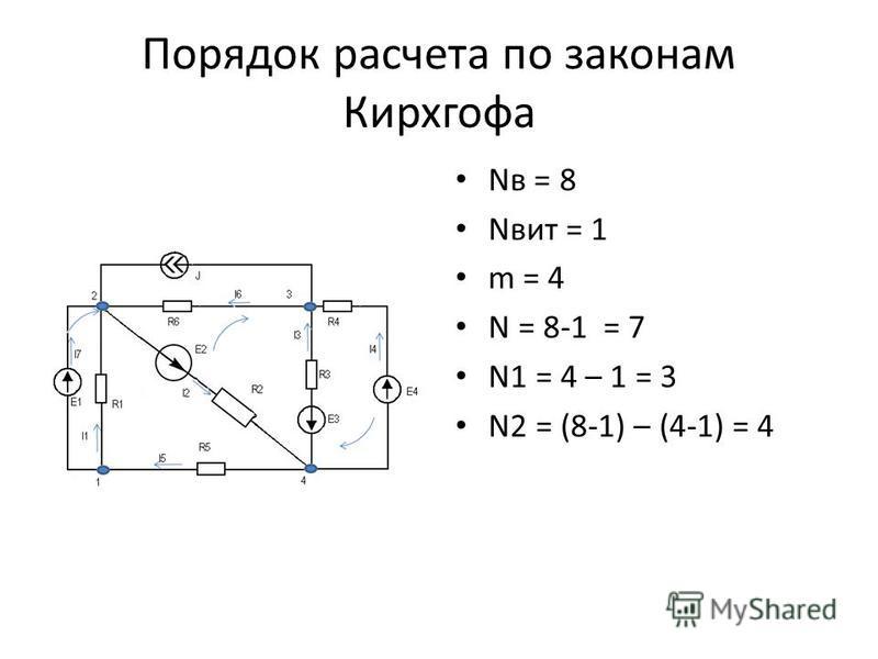 Nв = 8 Nвит = 1 m = 4 N = 8-1 = 7 N1 = 4 – 1 = 3 N2 = (8-1) – (4-1) = 4