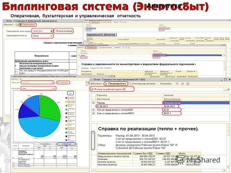 Оперативная, бухгалтерская и управленческая отчетность Аналитика