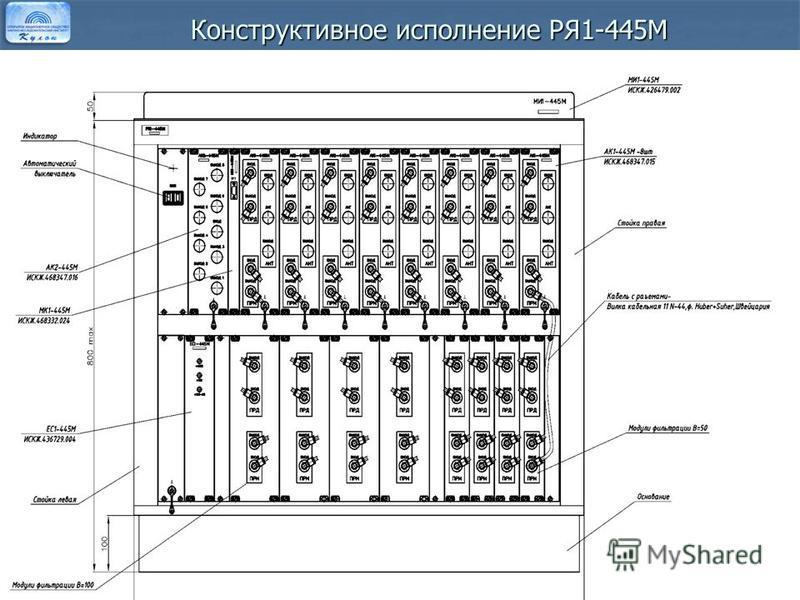 Конструктивное исполнение РЯ1-445М