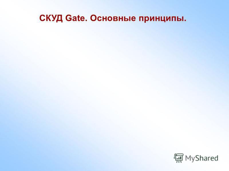 СКУД Gate. Основные принципы.