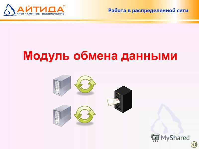 Работа в распределенной сети Модуль обмена данными 66