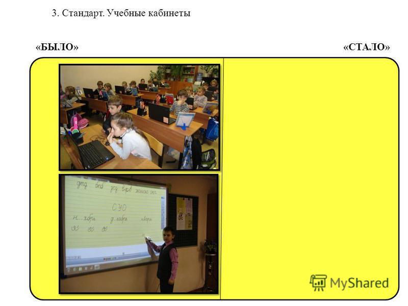 3. Стандарт. Учебные кабинеты «БЫЛО» «СТАЛО»