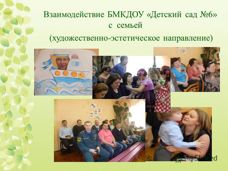 Взаимодействие БМКДОУ «Детский сад 6» с семьей (художественно-эстетическое направление)