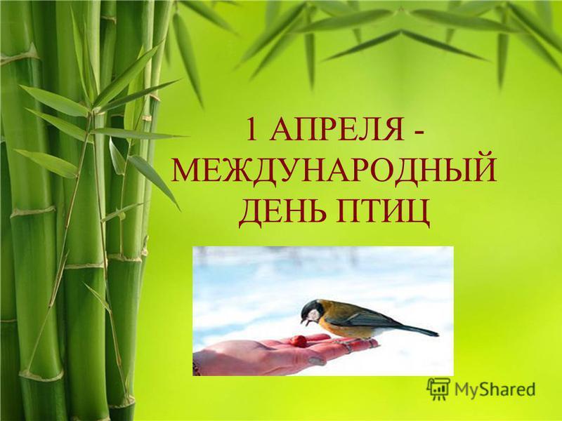 1 АПРЕЛЯ - МЕЖДУНАРОДНЫЙ ДЕНЬ ПТИЦ Подзаголовок слайда