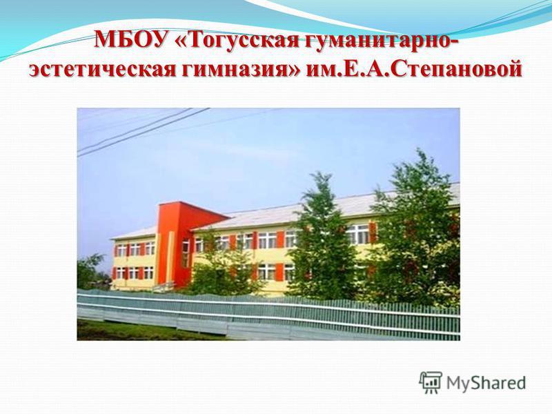 МБОУ «Тогусская гуманитарно- эстетическая гимназия» им.Е.А.Степановой