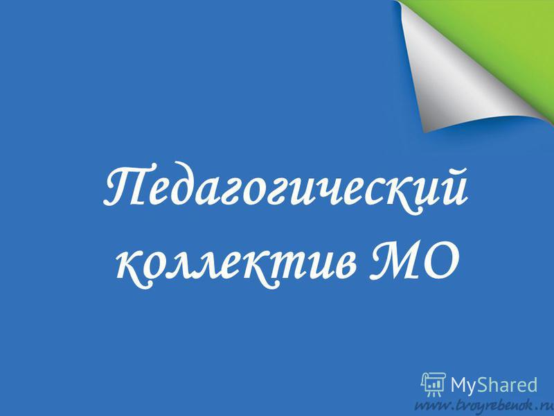 Педагогический коллектив МО