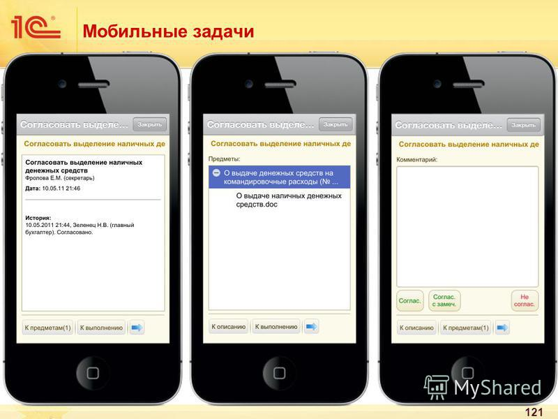 121 Мобильные задачи