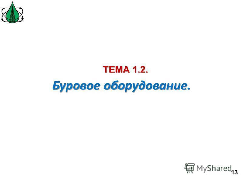 Буровое оборудование. ТЕМА 1.2. 13
