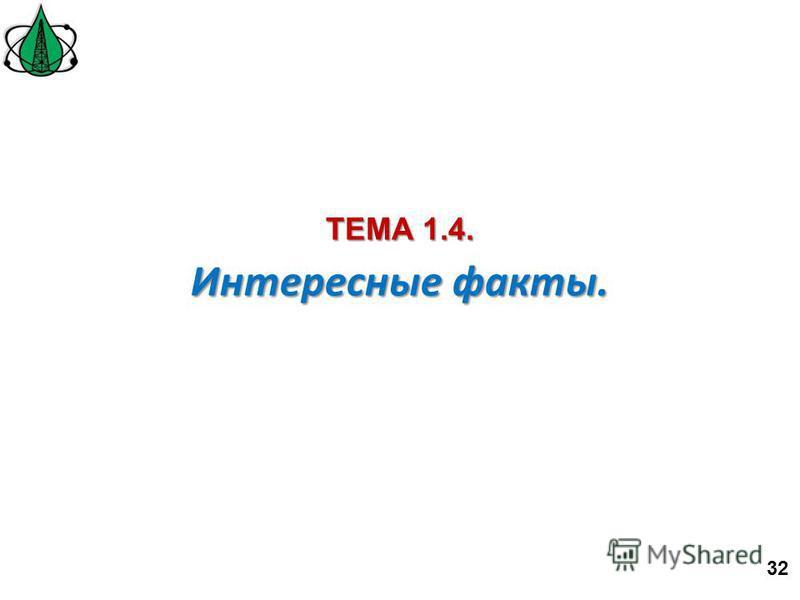 Интересные факты. ТЕМА 1.4. 32