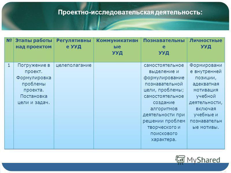 Проектно-исследовательская деятельность:
