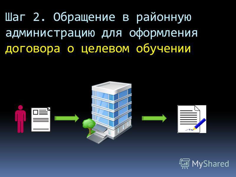 Шаг 2. Обращение в районную администрацию для оформления договора о целевом обучении