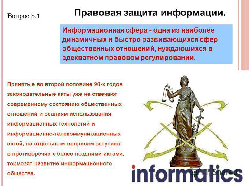 2 2 Принятые во второй половине 90-х годов законодательные акты уже не отвечают современному состоянию общественных отношений и реалиям использования информационных технологий и информационно-телекоммуникационных сетей, по отдельным вопросам вступают