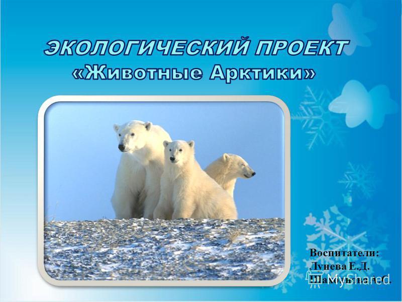 Воспитатели: Лунева Е.Д. Шахбанова А.С.