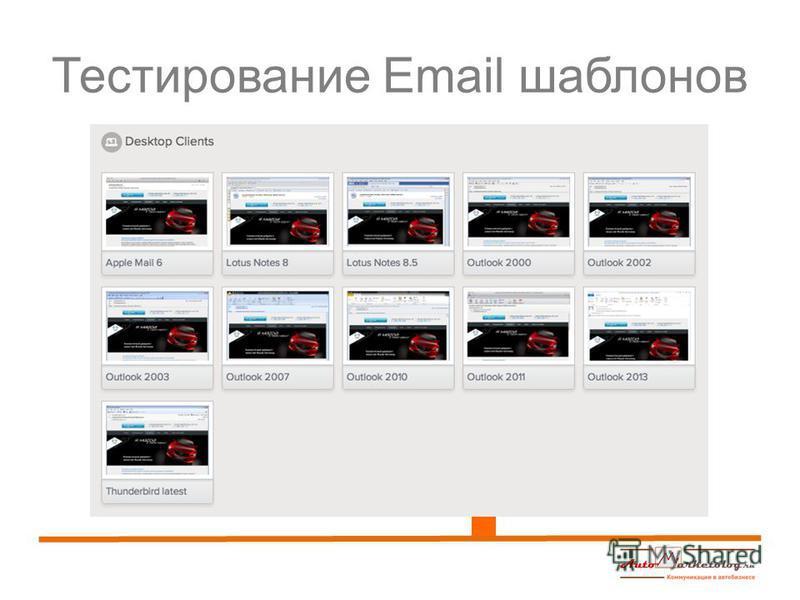 Тестирование Email шаблонов