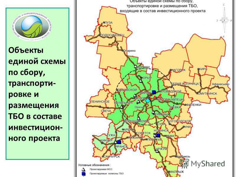 Объекты единой схемы по сбору, транспортировке и размещения ТБО в составе инвестиционного проекта