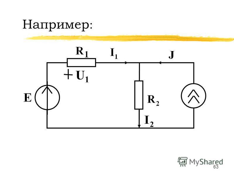 62 Графическое определение I K и U K U I E Г JГJГ U К = R К I К I K U K 0