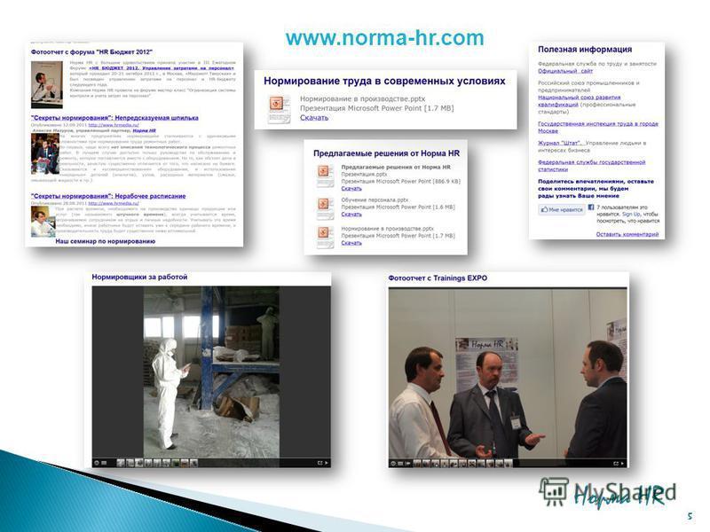 www.norma-hr.com Норма HR 5