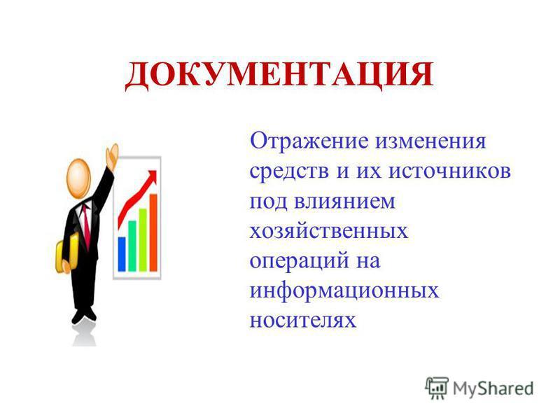 ДОКУМЕНТАЦИЯ Отражение изменения средств и их источников под влиянием хозяйственных операций на информационных носителях