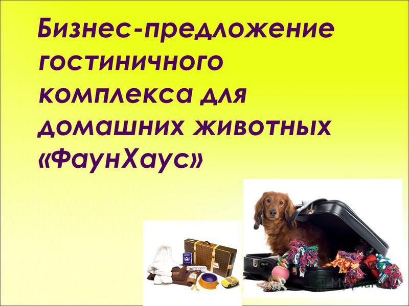 Бизнес-предложение гостиничного комплекса для домашних животных «Фаун Хаус»