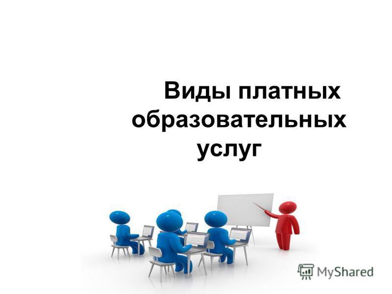 Виды платных образовательных услуг