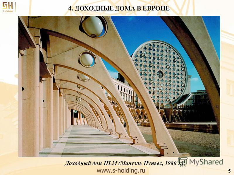 4. ДОХОДНЫЕ ДОМА В ЕВРОПЕ Доходный дом HLM (Мануэль Нуньес, 1980 г.) 5