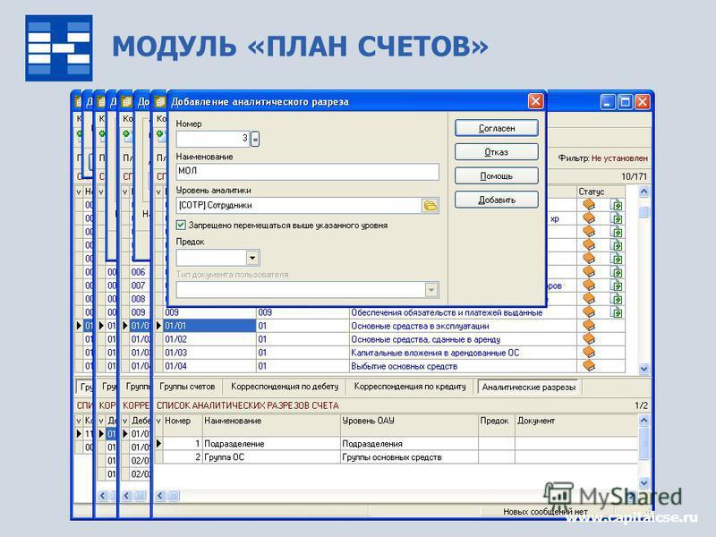 МОДУЛЬ «ПЛАН СЧЕТОВ» www.capitalcse.ru