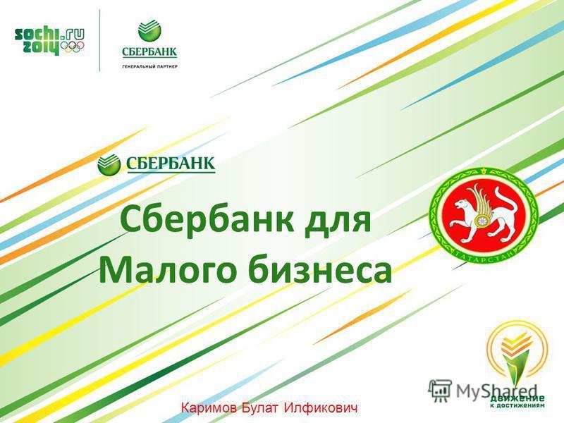Сбербанк для Малого бизнеса Каримов Булат Илфикович