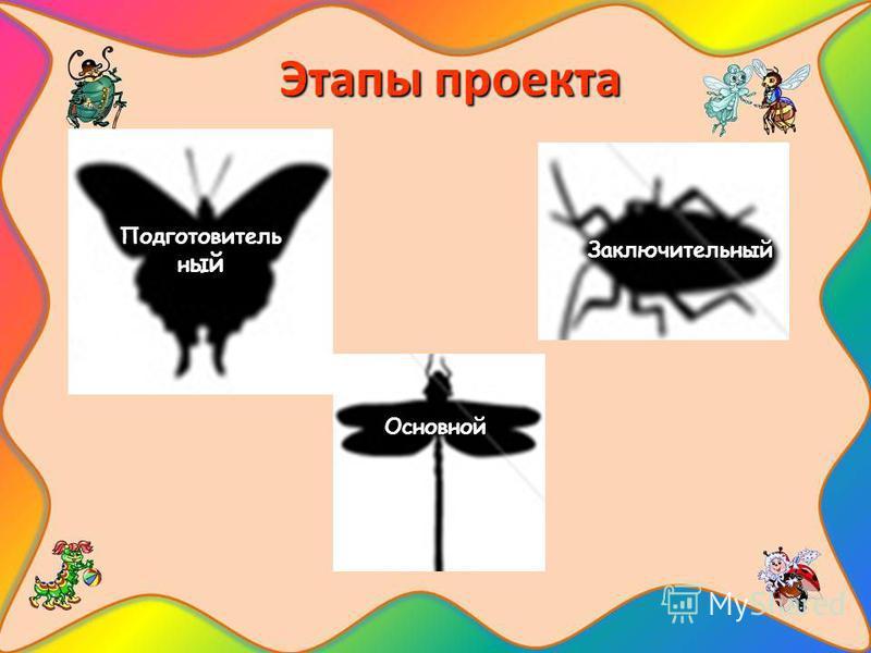 Этапы проекта Подготовитель н ый Основной Заключительный