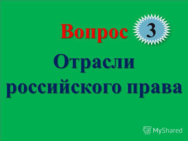 Теория государства и права 28Вопрос Отрасли российского права 3 3