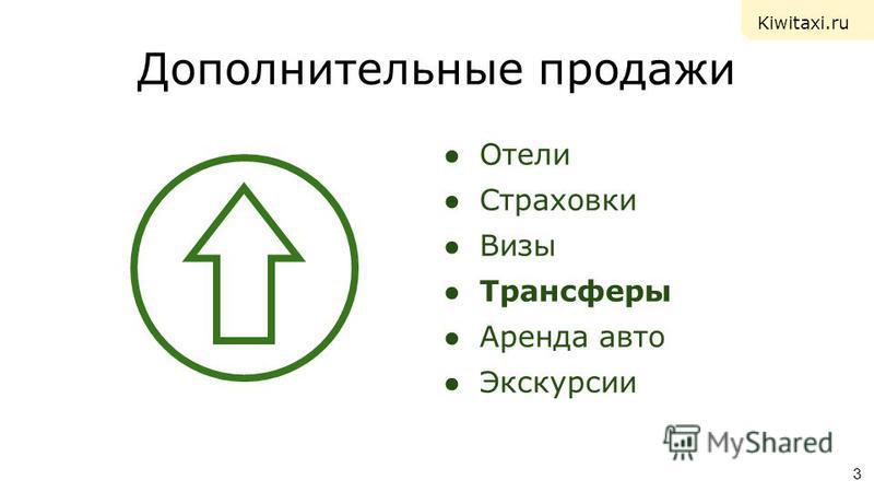 Дополнительные продажи Отели Страховки Визы Трансферы Аренда авто Экскурсии 3 Kiwitaxi.ru