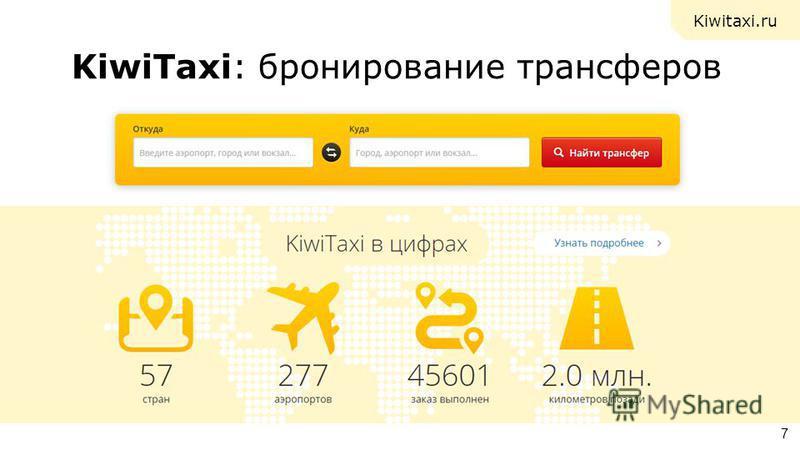 KiwiTaxi: бронирование трансферов 7 Kiwitaxi.ru