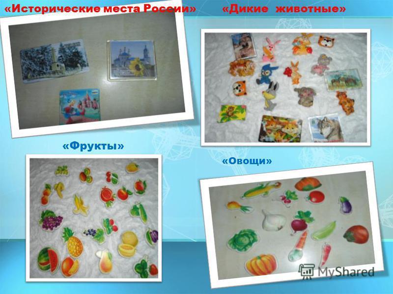«Исторические места России»«Дикие животные» «Фрукты» «Овощи»