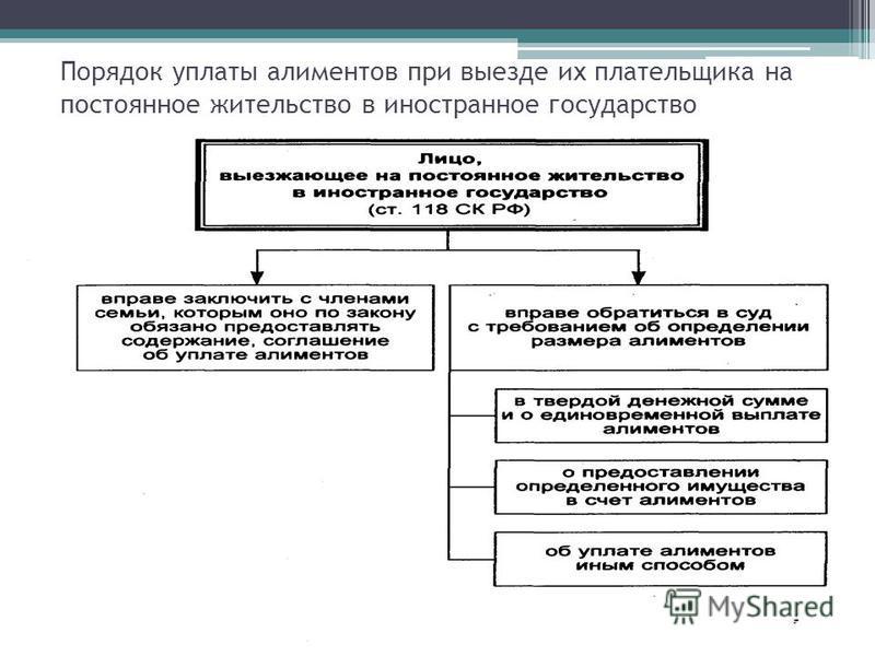 Порядок уплаты алиментов при выезде их плательщика на постоянное жительство в иностранное государство
