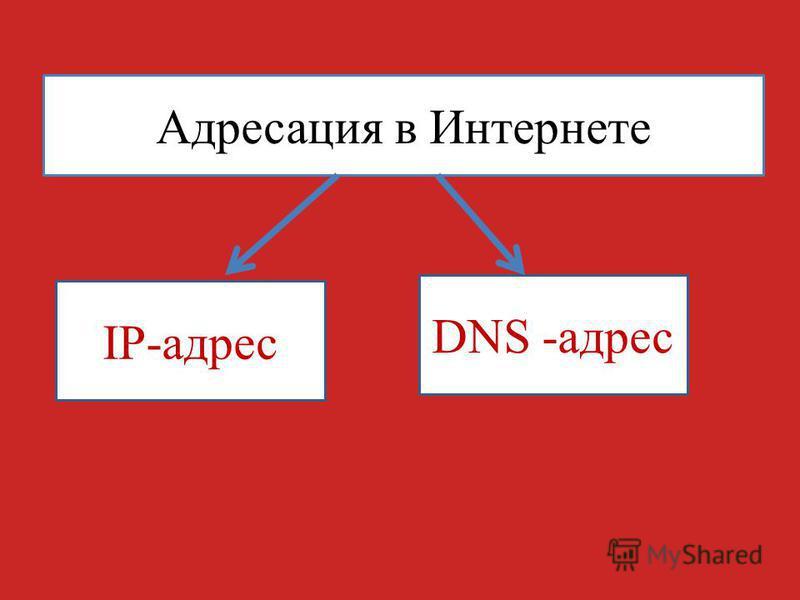 Адресация в Интернете IP-адрес DNS -адрес