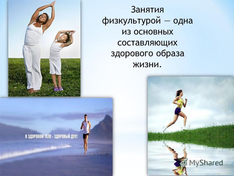 Занятия физкультурой одна из основных составляющих здорового образа жизни.