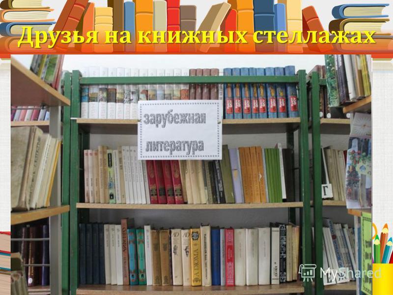 Друзья на книжных стеллажах