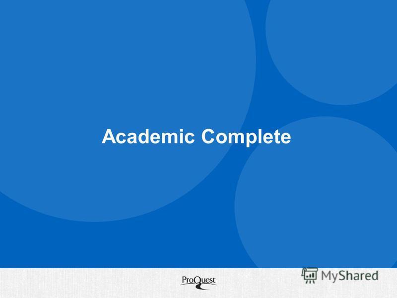 Academic Complete