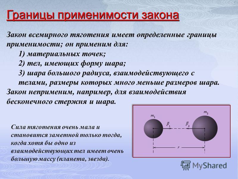 Математическое выражение закона: -- масса первого тела; т 1 т 1 т 2 -- масса второго тела; r -- расстояние между ними; G – гравитационная постоянная.