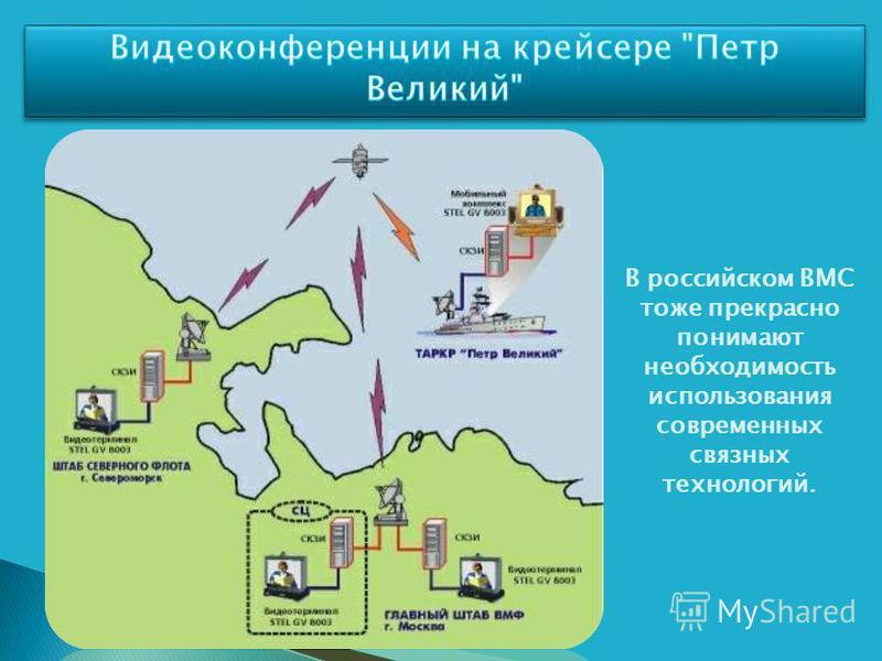 В российском ВМС тоже прекрасно понимают необходимость использования современных связных технологий.