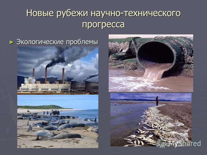 Новые рубежи научно-технического прогресса Экологические проблемы Экологические проблемы