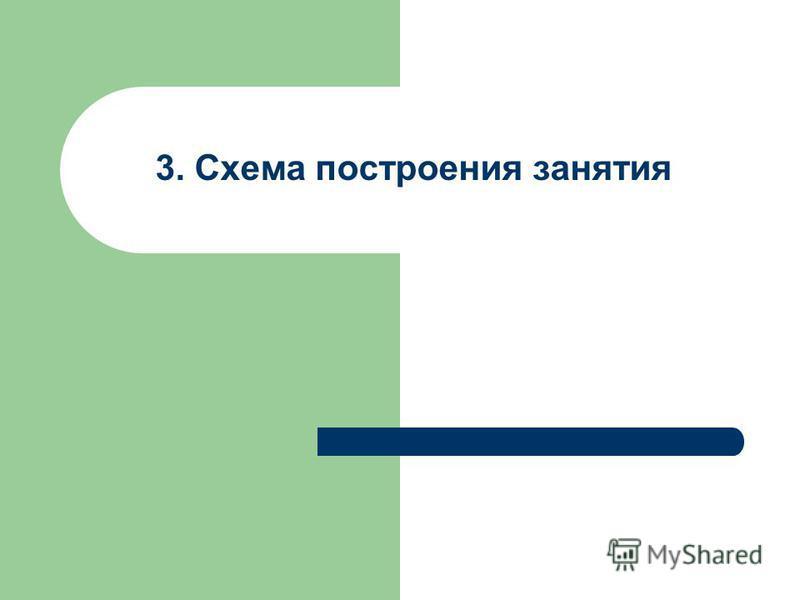 3. Схема построения занятия