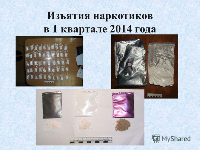 Изъятия наркотиков в 1 квартале 2014 года