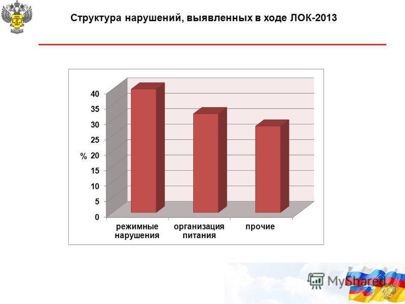Структура нарушений, выявленных в ходе ЛОК-2013 11