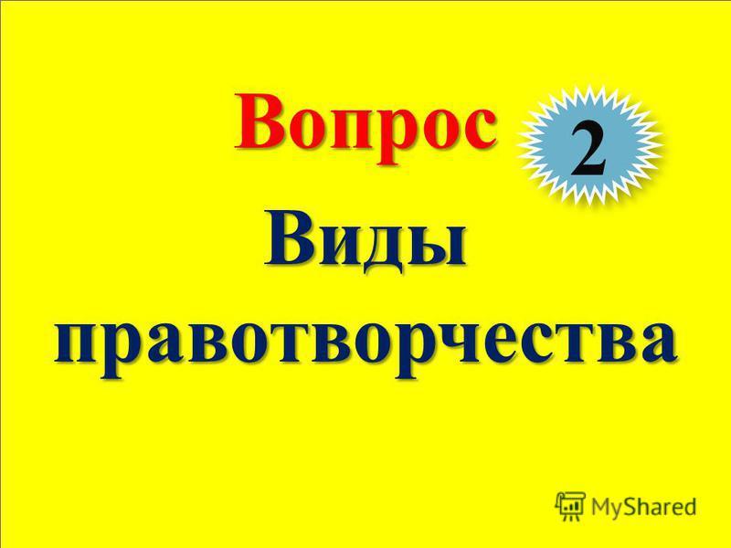 Теория государства и права 35Вопрос Виды правотворчества 2 2