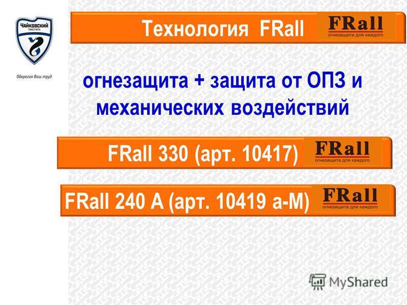 огнезащита + защита от ОПЗ и механических воздействий Технология FRall FRall 330 (арт. 10417) FRall 240 A (арт. 10419 а-М)