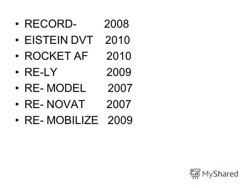 RECORD- 2008 EISTEIN DVT 2010 ROCKET AF 2010 RE-LY 2009 RE- MODEL 2007 RE- NOVAT 2007 RE- MOBILIZE 2009